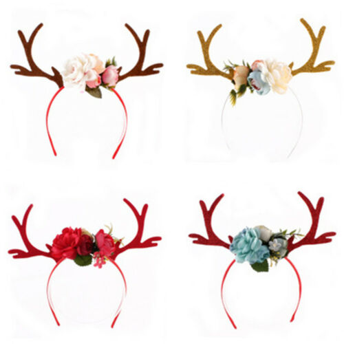 Delicate Reindeer Antlers Headband Christmas Girls Kid Deer Costume Ear Hairband