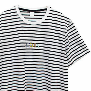 c030e94c636b3 Image is loading Agora-Garamond-Striped-T-Shirt-asap-Tee-guess-