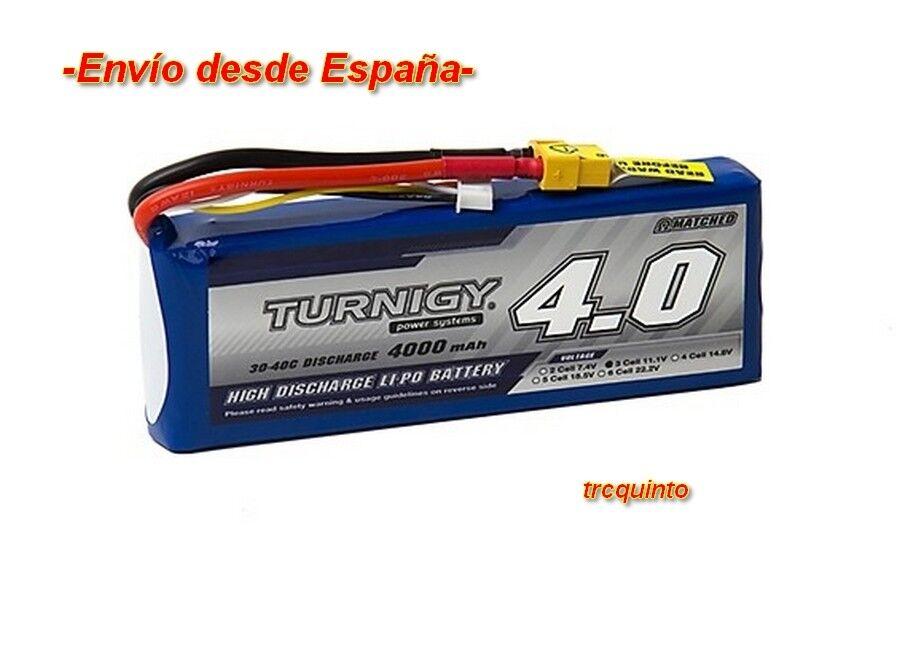 Bateria Lipo 4000mA 3S 11,1v 30C XT60 para modelos de aviones coches lanchas