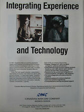 9/1989 PUB CANADIAN AVIONICS GUGLIELMO MARCONI PILOT HELICOPTER HELMET AD