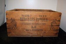 Vtg Hercules Powder Crate Dynamite Powder Crate ICC-14 Dangerous Explosive L2