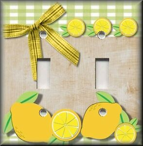Light Switch Plate Cover Country Kitchen Lemons Home