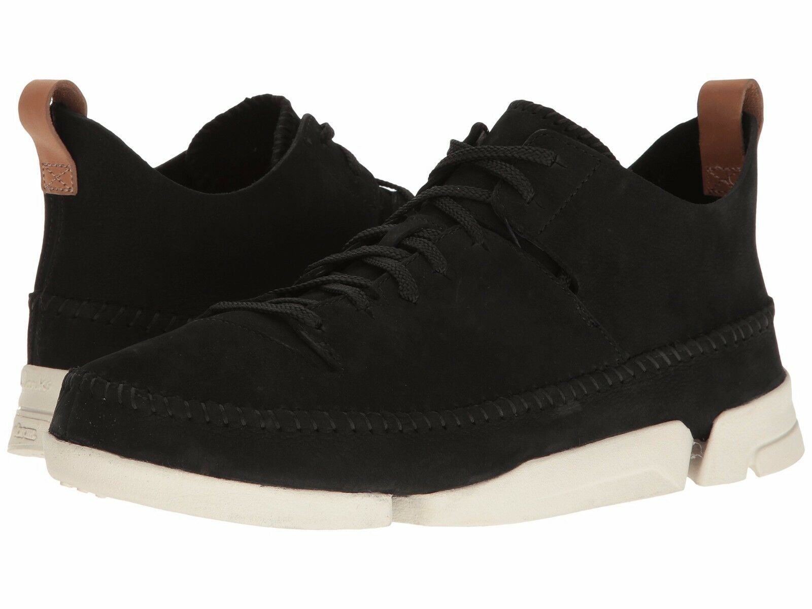 Men's shoes Clarks Trigenic Flex Suede Lace Up Sneaker 07366 Black Nubuck New