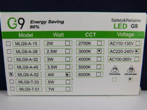 LE G9 LED Lampen 5W 340 Lumen Leuchtmittel ersetzt 50W Halogenlampen 3000 Kelvin