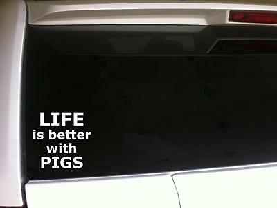 "I Love Bacon Car Decal Vinyl Sticker 6/"" L60 Heart Gift Pork Pig Swine Funny Food"