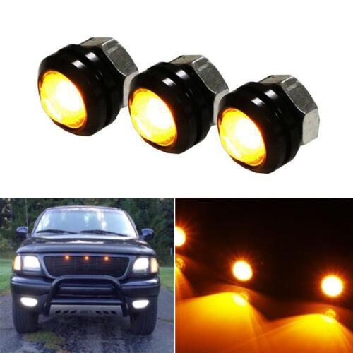 3PCS 3W DC 12V Car LED Amber Grille Lighting Lights Kit For SUV Truck Ford SVT