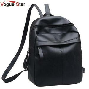 High Quality PU Leather Women Backpack Fashion Solid School Bags For ... 0c085513c8b0d