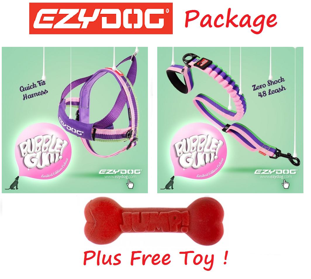 Ezydog Pacchetto gomma da masticare Zero Shock 48 per Cane Guinzaglio & Quick Fit cablaggio libero Toy