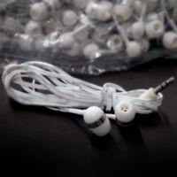 Earbuds Lot Set Of 50 Bulk White/grey Extra Long In-ear Earbuds / Earphones