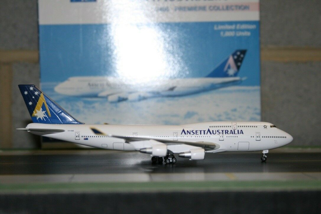 Dragon Wings 1 400 Ansett Boeing 747-400 VH-ANB  Limited 1000 with COA  (55216)