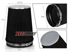 """6"""" BLACK Truck Long Performance High Flow Cold Air Intake Cone Dry Filter"""