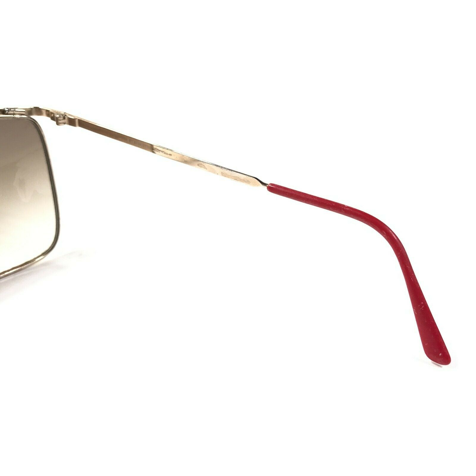 Vintage Gucci Sunglasses 70s 80s Gold Red Logos B… - image 7