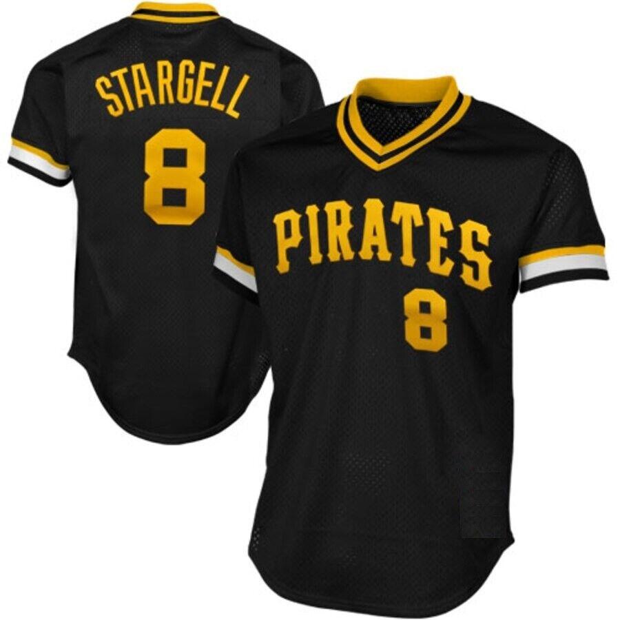 Willie Stargell Pittsburgh Pirates Pirates Pirates 1982 Retro Spieler Baseball Jersey MLB Trikot 10d147