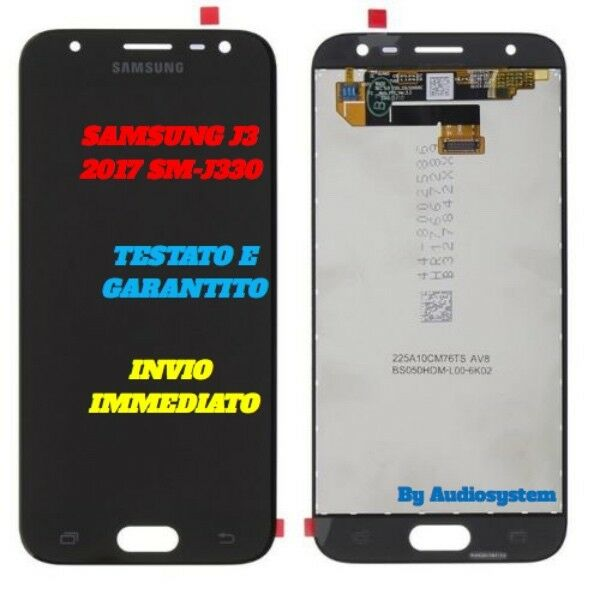 DISPLAY LCD+TOUCH SCREEN PER SAMSUNG GALAXY J3 2017 SM-J330FN NERO VETRO NUOVO