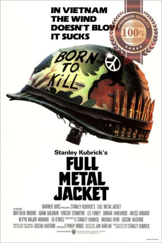 FULL METAL JACKET 1987 80s KUBRICK ORIGINAL CINEMA MOVIE PRINT PREMIUM POSTER