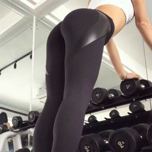 New Women Lady Sports Pants Yoga Fitness Leggings Running Gym Stretch Trousers