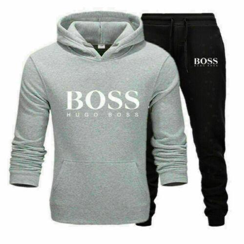 Men Tracksuit Jogging Hoodies Bottoms Sport Suit Trousers Fitness Sportwear Sets