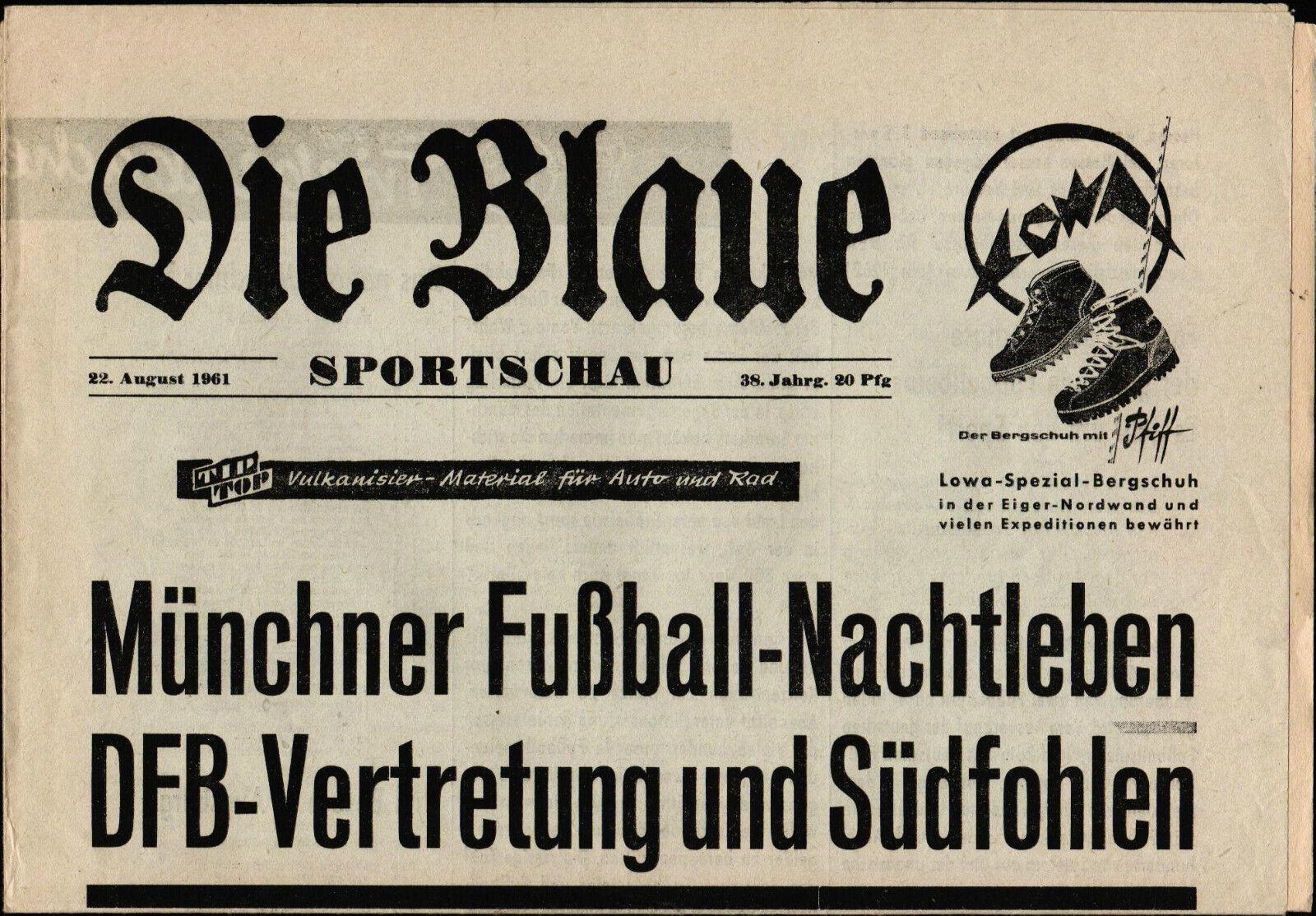 22.08.1961 DFB-Auswahl - Süd-Junioren in München