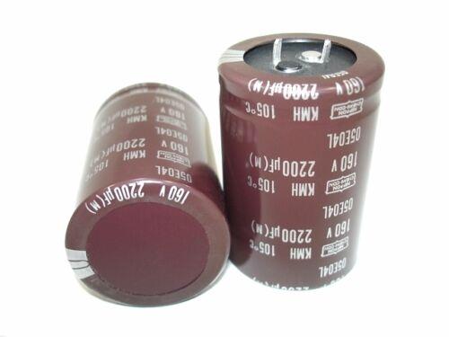 2pcs NCC 2200uf 160v 105c High Grade KMH Series Capacitors NEW