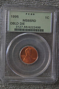 1995-PCGS-MS-66-RD-Doubled-Die-LINCOLN-MEMORIAL-Penny-OGH