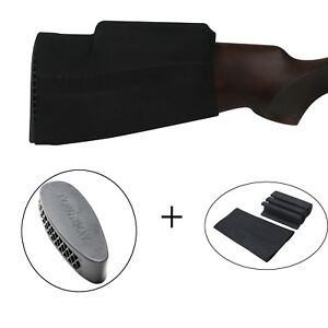 Tourbon-Hunting-Rifle-Slipon-Cheek-Raiser-Rest-Recoil-Pad-Rubber-Buttplate-Shoot