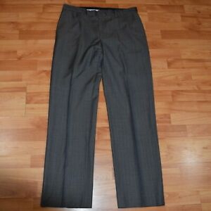 BANANA-REPUBLIC-MODERN-FIT-Men-039-s-sz-34-x-34-Gray-Pinstriped-DRESS-PANTS-EUC