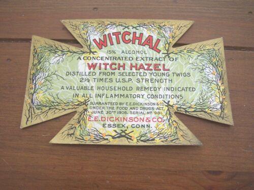 Witch Hazel vintage unused Labels Dennison/'s Dickinson/'s or Cassella