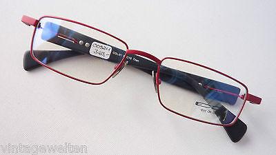 Aus Dem Ausland Importiert Eye De Luxe Titan-fassung Eckige Form Rot-schwarz Hochwertig Brillen Grösse L