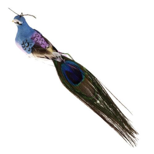 Lebensechte Feder Pfau Vogel Dekovogel Kunstvogel Waldvogel aus Schaum