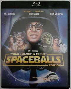 "SPACEBALLS ""YOUR HELMET IS SO BIG"" EDITION BLU RAY + BLACK CASE FREE SHIPPING"