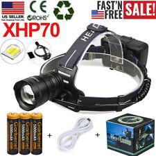 990000LMS LED Headlamp Headlight Torch Head Lamp XHP70.2 USB Rechargeable 18650
