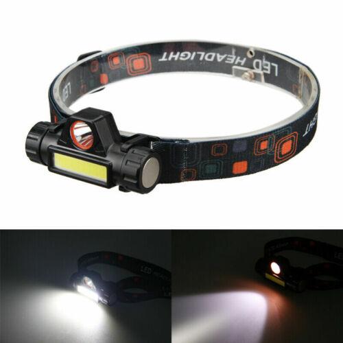 2 Modes Head Light LED Headlamp Rechargeable XPE+COB headlight flashlight