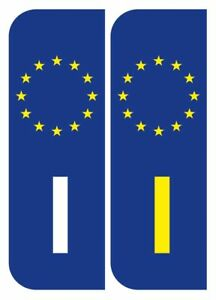 2 X Italy Italian Euro Car Number Plate Vinyl Stickers Ebay