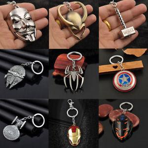 Anime Figure The Avengers Marvel Character Metal Keychain Keyring Car Keyforb