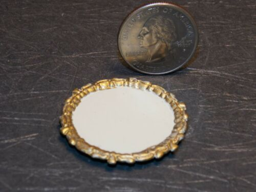 Dollhouse Miniature Metal Gold Tray Platter 1:12 inch scale E29A Dollys Gallery