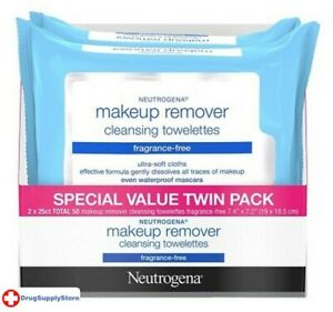 BL Neutrogena Make-Up Remover Towelettes 25Ct Frag-Free Two - THREE PACK