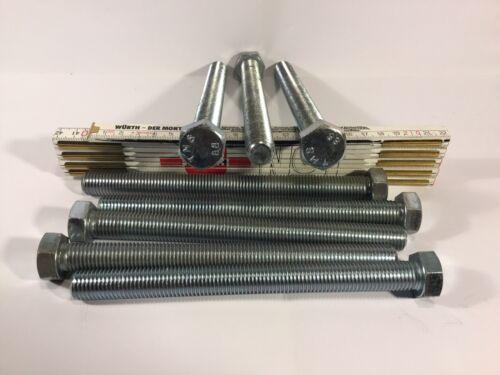 3x M16 X 180 M16x180 Maschinenschrauben DIN 933 8.8 verzinkt Vollgewinde