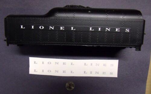 Tender PRE-TRIMMED Waterslide Decal Silver Lionel Post-war #2046 Lionel Lines