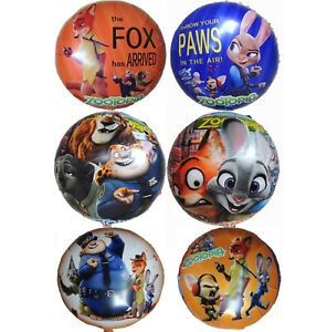 Image Is Loading ZOOTOPIA JUDY Amp NICK BIRTHDAY BALLOON PARTY LOLLY