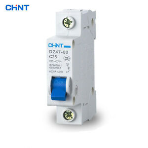Genuine-CHNT-Circuit-Breaker-DZ47-60-AC230-400V-1P-Model-C-Rated-Current-C10-C60