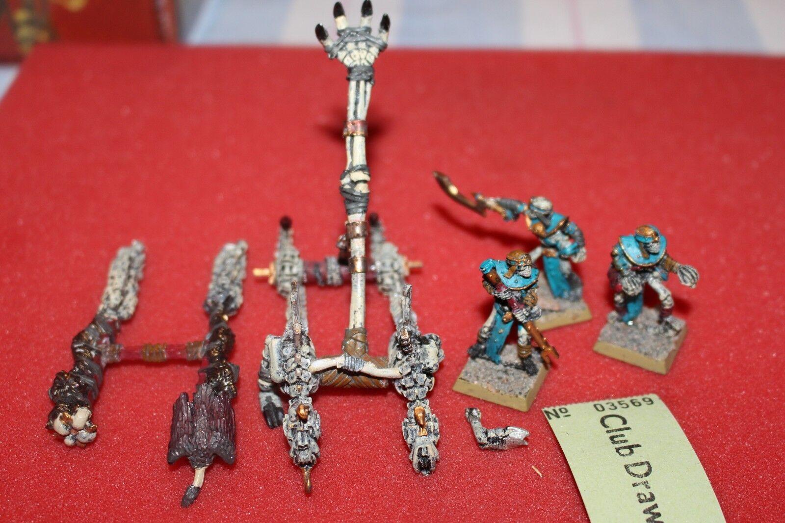 Games workshop warhammer grab könige schreien schädel gemalt, metall - katapult