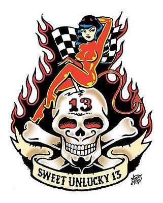 Skull Hotrod Motorcycle Go Kart Atv Rv R C Decals Stickers