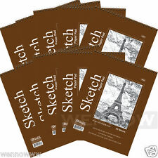 "10 Pcs 50 Sheets 6"" X 8"" Top Bound Spiral Premium Quality Sketch Book Paper Pad"