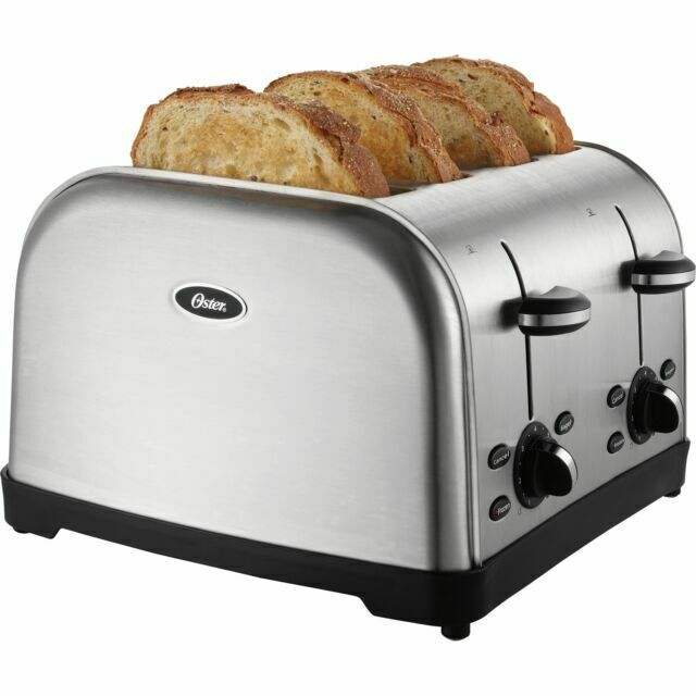 Oster 4 slice Stainless Steel Retractable Cord Toaster