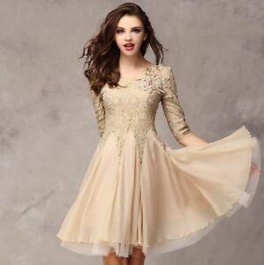 5c56461be3 La imagen se está cargando Nuevo-verano-Lady-039-s-Encaje-plisado-Vestidos-