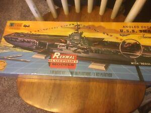 Renwal-1-500-Angled-Deck-Carrier-USS-Shangri-La-Plastic-Model-Kit-SEALED-INCELLO