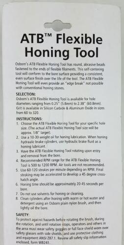 "x 180 grit S//C Osborn ATB Flexible Hone Honing Tool 1.069/"" 26.9mm"