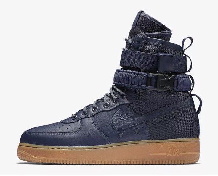 Nike Air SF AF1 Sz 9 Midnight Navy 864024 400 Flyknit Jordan