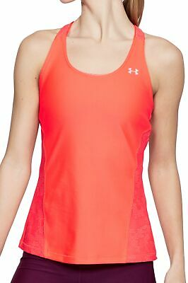 Under Armour Heatgear Fashion Da Donna In Esecuzione Gilet Tank Top-rosa-mostra Il Titolo Originale