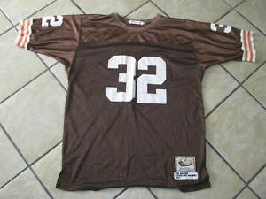 release date f8408 24eb8 Details about Cleveland Browns JIM BROWN NFL FOOTBALL JERSEY Throwback  Mitchell & Ness Size 56